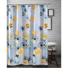 Watercolor Dream Shower Curtain , GRAY