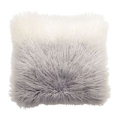 Ombré Flokati Pillow,