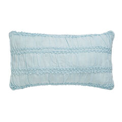 Claudine Ruched Floral Lumbar Pillow,