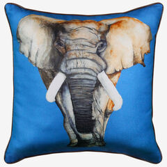 Elephant Reversible Decorative Pillow, BLUE