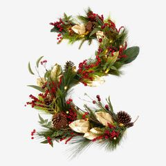 "72""L Winterberry Garland,"