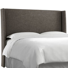 Lawrence Full Wingback Headboard, ZUMA CHARCOAL