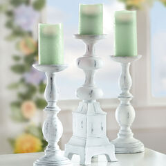 Sage Battery-Operated Candles, Set of 3,