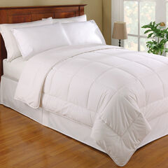 Wool/Cotton Comforter, WHITE