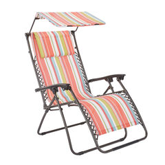Zero Gravity Chair With Pillow And Canopy, MULTI STRIPE