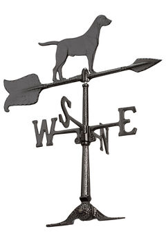 "24"" Retriever Weathervane, BLACK"