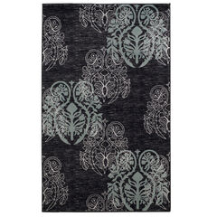 Milan Black 2'X3' Area Rug,