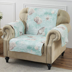 Ocean Turquoise Furniture Protector, Arm Chair,
