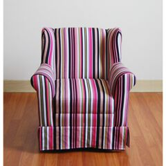 Girl's Wingback Chair Striped ,