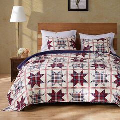 Greenland Home Fashions Liberty Quilt and Pillow Sham Set,