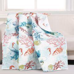 Barefoot Bungalow Sarasota Quilted Throw Blanket,