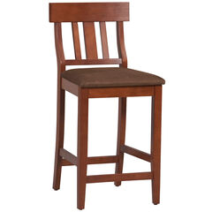 Torino Collection Slat Back Center Stool,