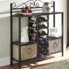 Storage Rack with Two Baskets,