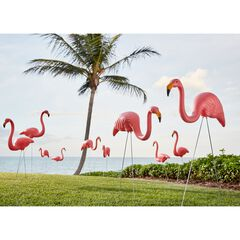 Set of 10 Flamingos,