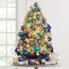 4' Champagne Tinsel Tree,