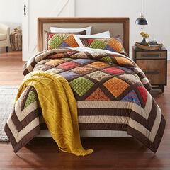 Ginger Harvest Patchwork Quilt,