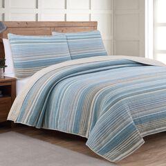Estate Collection Taj Ice Blue Quilt Set,