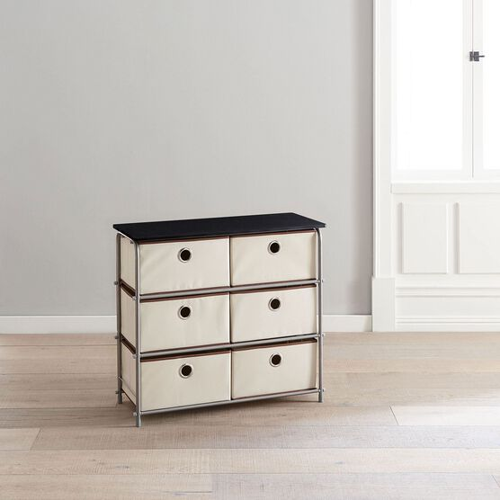 Eve 6-Drawer Soft Storage Cart ,