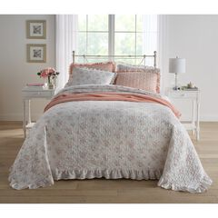 3-Pc. Printed Ruffle Bedspread Set,