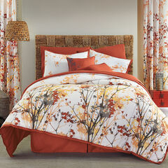 Funky Floral 6-Pc. Comforter Set, ORANGE GREY