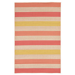 "Nico Stripe Rug 39""W x 59""L , ORANGE"