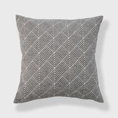 Diamond Geo Chenille Woven Jacquard Accent Pillow,