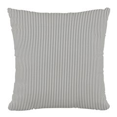 "Stripe Fluffed Polyester 18""Sq. Pillow,"