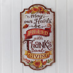 Thanks & Giving Wall Plaque,