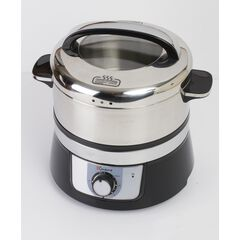 Euro Cuisine Stainless Steel Electric Food Steamer,