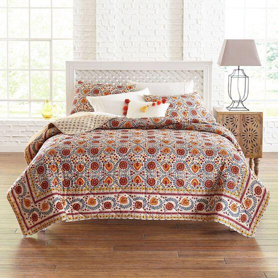 Nisha Suzani Print Quilt,