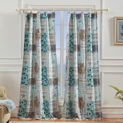 Key West Seafoam Curtain Panel Pair by Greenland Home Fashions,