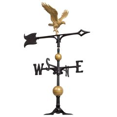 30' Full-Bodied Eagle Weathervane,