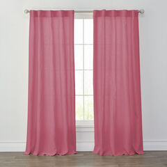 Liam Washed Linen Panel, PEONY PINK