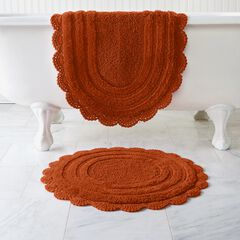 Oval Crochet Bath Rug, SPICE