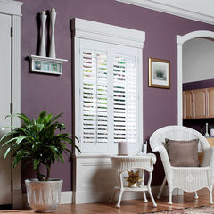 "2¼"" Plantation Faux Wood Interior Shutter,"