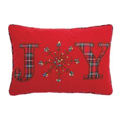 Joy Beaded Holiday Pillow,