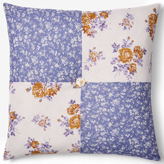 "Alexis 16""Sq. Pillow, GOLD BLUE"