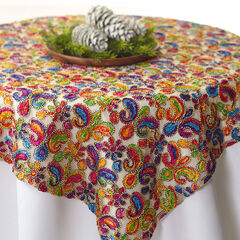 Colorful Burnout Tablecloth,
