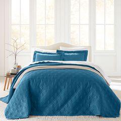 3-Pc. Diamond Embossed Bedspread Set,