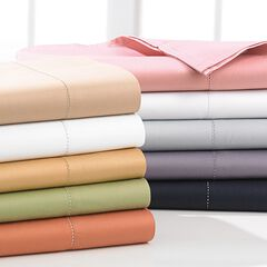400-TC. Cotton Hemstitched Sheet Set,