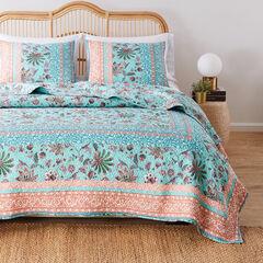 Audrey Turquoise Quilt Set,