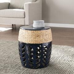 Nalissa Round Ceramic Accent Table,