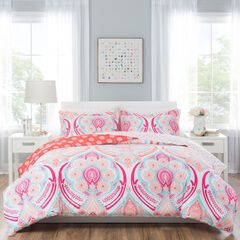 Nicole Miller Isabella Kid's Reversible Comforter Set,