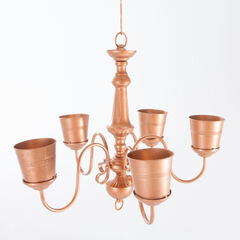 "2-In-1 Planter ""Chandelier"", COPPER"
