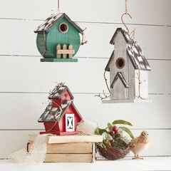 Birdhouses, Set of 3,