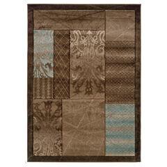 Milan Brown/Black 8'X10' Area Rug,