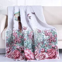 Barefoot Bungalow Bailey's Birdhouse Quilted Throw Blanket,