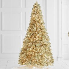 7 pre lit champagne tree - Pre Decorated Christmas Trees Delivered
