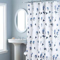 Nicole Miller Le Petite Fleur Shower Curtain,