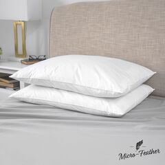 SensorPEDIC Micro-Feather Plush Pillows - 2 Pack,